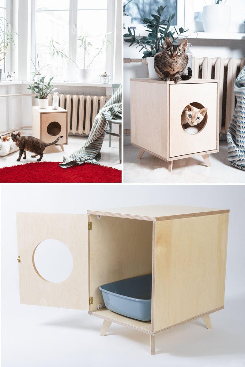 Jak schovat kočičí záchod (casa.com.br)